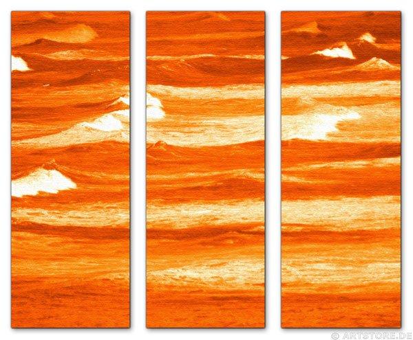 Wandbild Jack Dyrell TERRAKOTTA WAVES