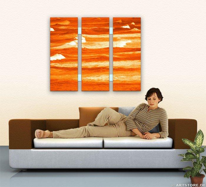Wandbild Jack Dyrell TERRAKOTTA WAVES Wohnbeispiel