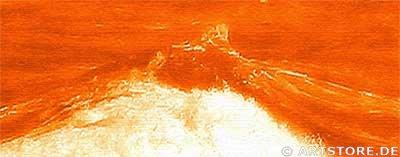 Wandbild Jack Dyrell TERRAKOTTA WAVES Detailausschnitt