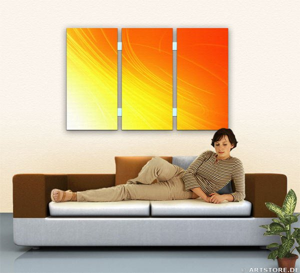 Wandbild Jack Dyrell LIGHT RAYS Wohnbeispiel