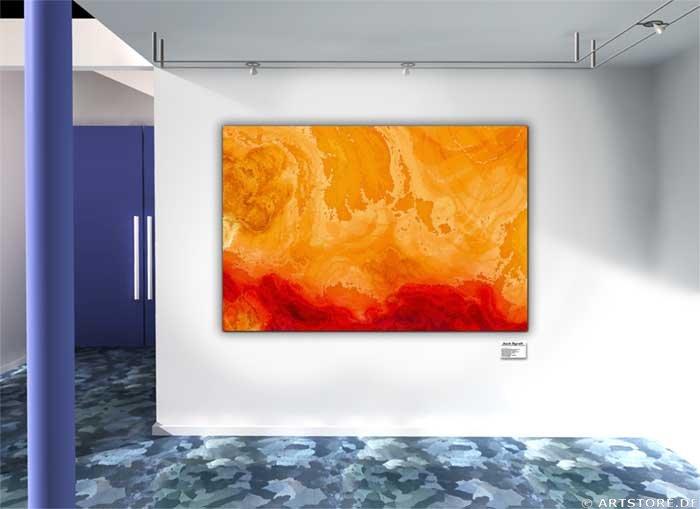 Wandbild Jack Dyrell RED PASSION Wohnbeispiel