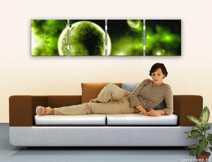Wandbild Jack Dyrell PANORAMIC UNIVERSE Wohnbeispiel