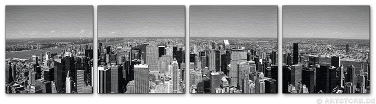 wandbilder jack dyrell ny panoramic skyline. Black Bedroom Furniture Sets. Home Design Ideas