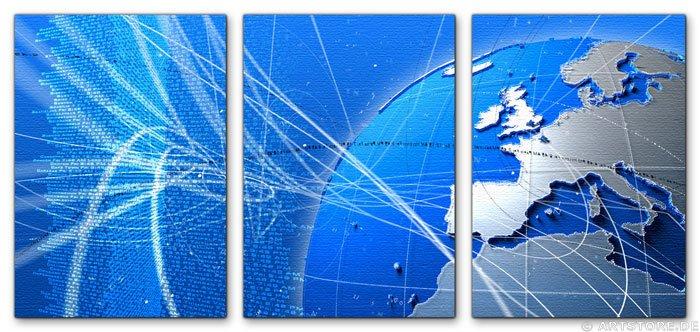 Wandbild Jack Dyrell BLUE - DYNAMIC - WORLD