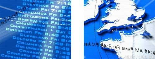 Wandbild Jack Dyrell BLUE - DYNAMIC - WORLD Detailausschnitt