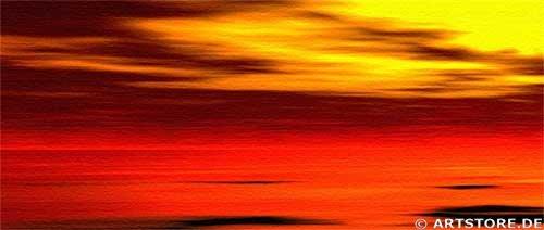 Wandbild Jack Dyrell PANORAMIC SUNSET Detailausschnitt
