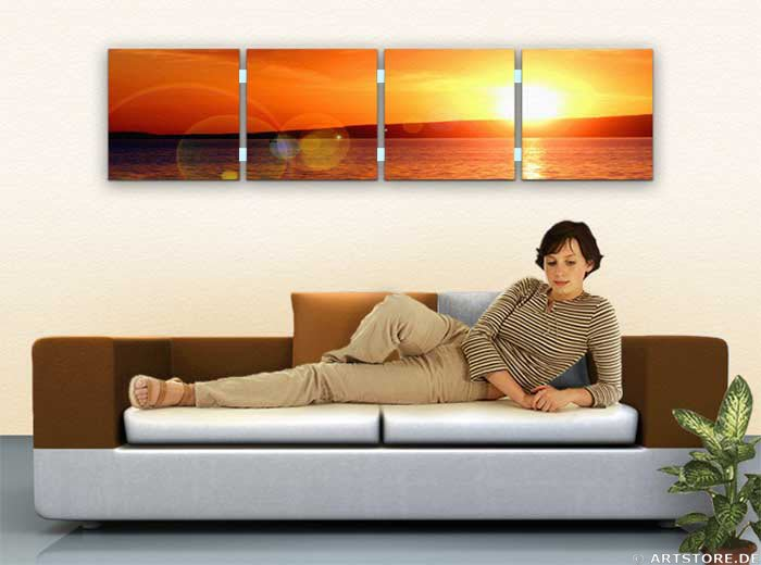 Wandbild Jack Dyrell SUN REFLECTIONS Wohnbeispiel