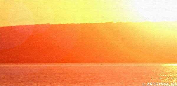 Wandbild Jack Dyrell SUN REFLECTIONS Detailausschnitt