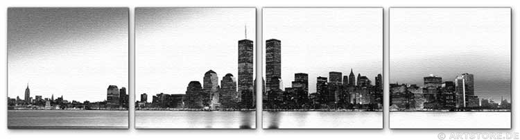 Wandbild Jack Dyrell OLD NEW YORK SKYLINE