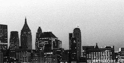 Wandbild Jack Dyrell OLD NEW YORK SKYLINE Detailausschnitt