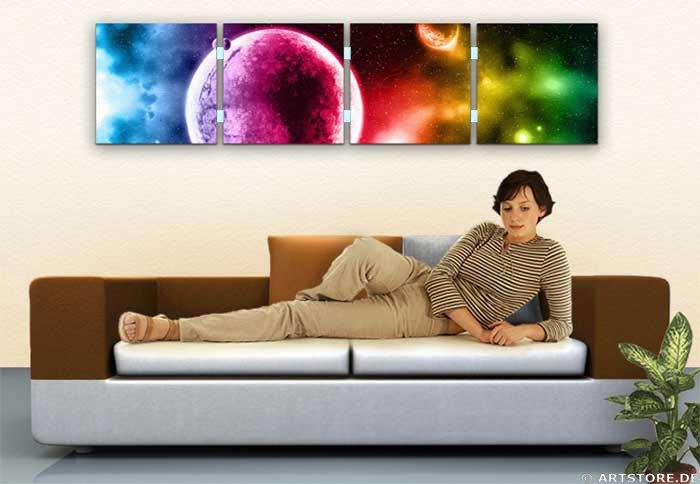 Wandbild Jack Dyrell COLORS OF UNIVERSE Wohnbeispiel