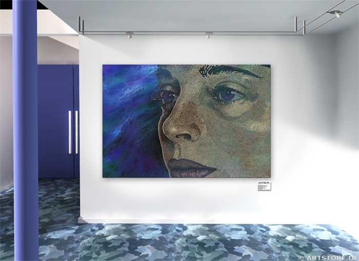 Wandbild Jack Dyrell SINGULARLY WOMAN Wohnbeispiel