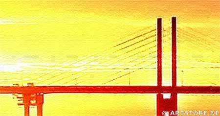 Wandbild Jack Dyrell SUN BEAM Detailausschnitt