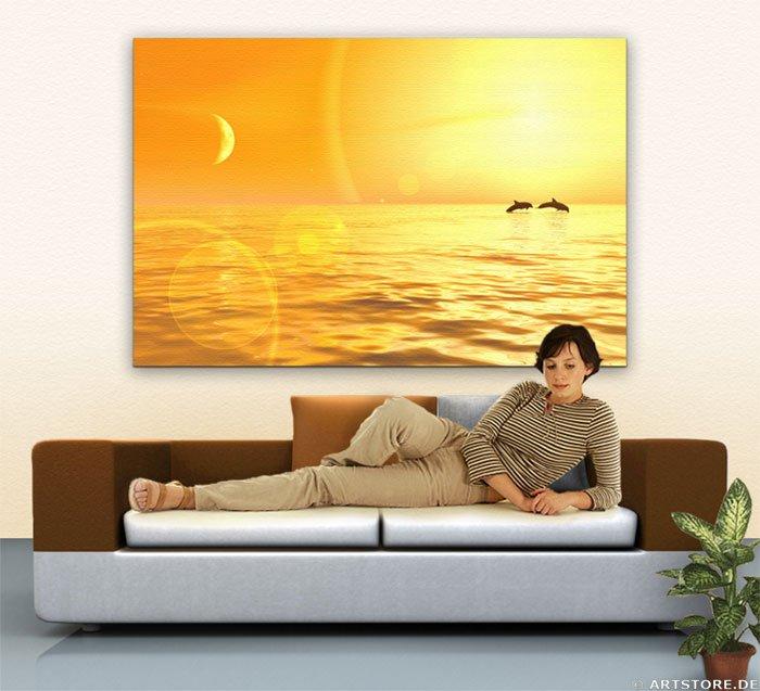Wandbild Jack Dyrell COSTA DEL SOL - SUNSET Wohnbeispiel