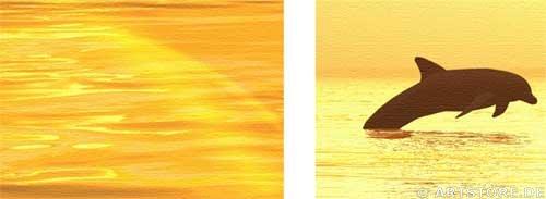 Wandbild Jack Dyrell COSTA DEL SOL - SUNSET Detailausschnitt