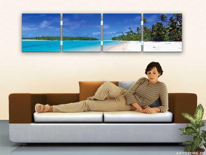 Wandbild Jack Dyrell PANORAMIC BEACH Wohnbeispiel