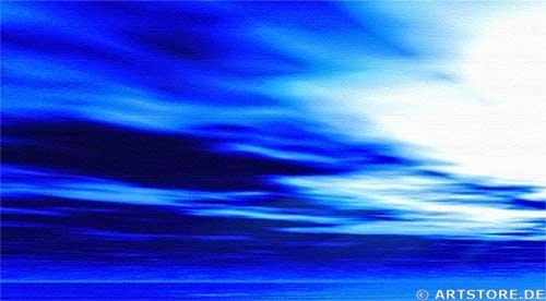 Wandbild Jack Dyrell PANORAMIC BLUE Detailausschnitt