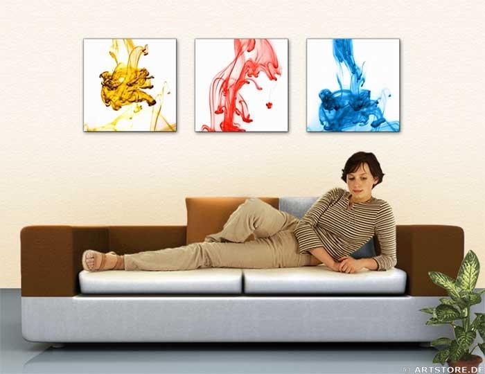 Wandbild Jack Dyrell LIQUID COLORS Wohnbeispiel