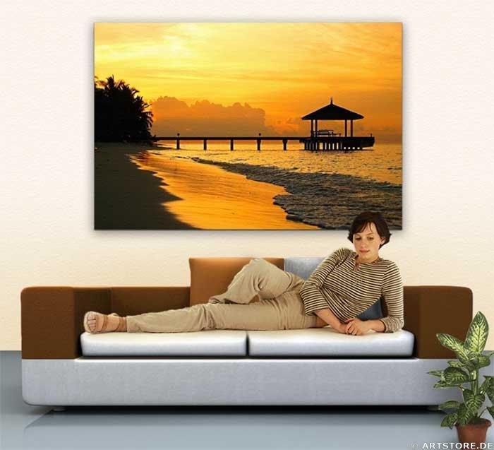 Wandbild Jack Dyrell BALI - SUNSET Wohnbeispiel
