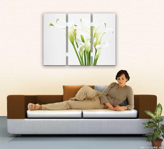 Wandbild Jack Dyrell CALLA EDITION - Blumen Wohnbeispiel
