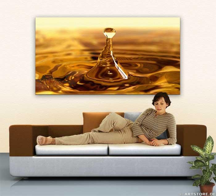 Wandbild Jack Dyrell GOLDEN DROP - GOLD Wohnbeispiel