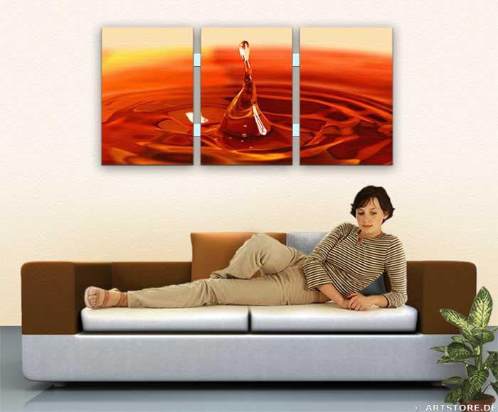 Wandbild Jack Dyrell RED WATERDROP - EDITION Wohnbeispiel