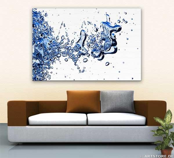 Wandbild Jack Dyrell BLUE WATER Wohnbeispiel
