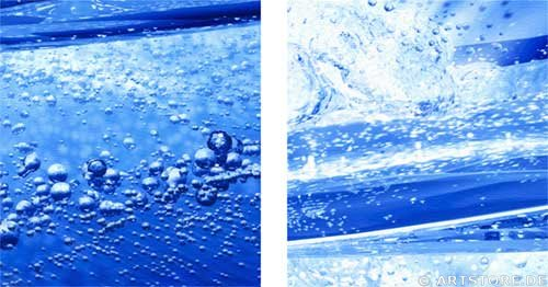 Wandbild Jack Dyrell BLUE WATER EXPLOSION Detailausschnitt
