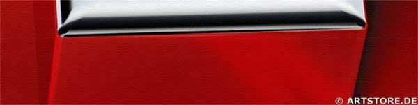 Wandbild Jack Dyrell SWISS CROSS - SILVER Detailausschnitt