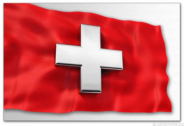 Wandbild Jack Dyrell SWISS FLAG - 3D Cross