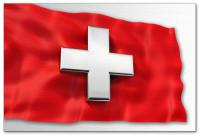 Wandbilder Jack Dyrell SWISS FLAG - 3D Cross