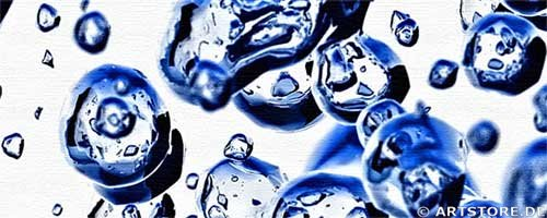 Wandbild Jack Dyrell LIQUID BLUE Detailausschnitt