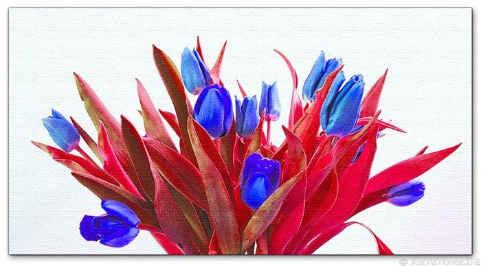 Wandbild Jack Dyrell BLUE TULIPS