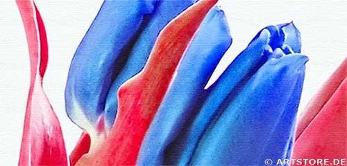 Wandbild Jack Dyrell BLUE TULIPS Detailausschnitt