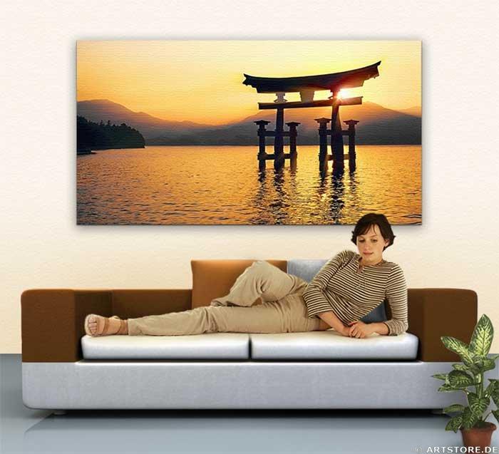 Wandbild Jack Dyrell TORI JAPAN - BIG GOLD Wohnbeispiel