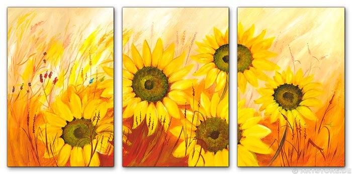 Wandbild Mia Morro FRESH SUNFLOWERS - EDITION