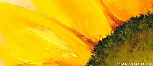 Wandbild Mia Morro FRESH SUNFLOWERS - EDITION Detailausschnitt