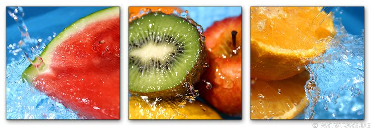 Wandbild Jack Dyrell FRUITS IN WATER