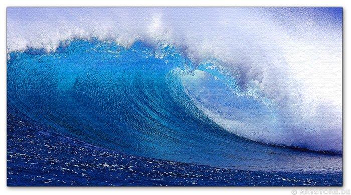 Wandbild Jack Dyrell FRESH BLUE WAVE