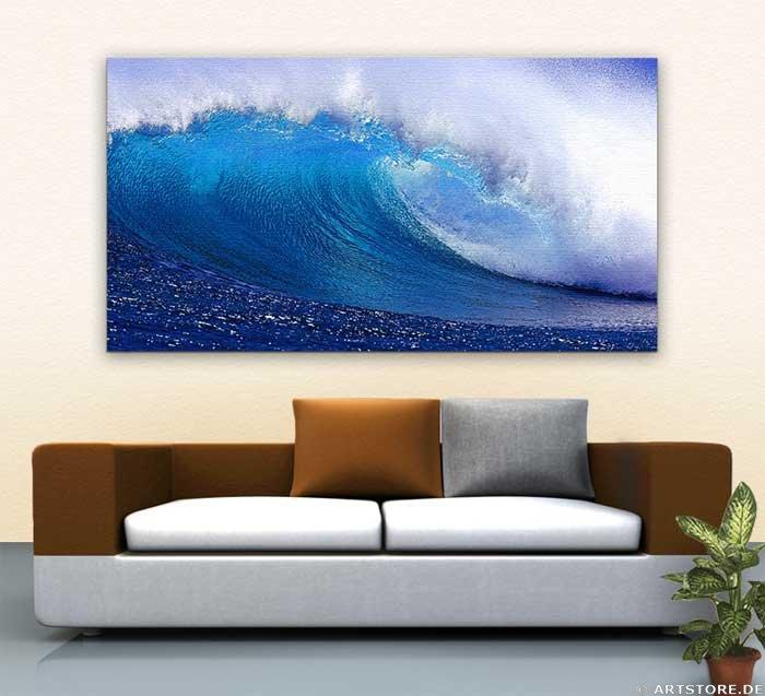 Wandbild Jack Dyrell FRESH BLUE WAVE Wohnbeispiel