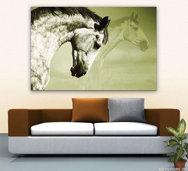 Wandbild Jack Dyrell BEAUTY HORSE 2 Wohnbeispiel