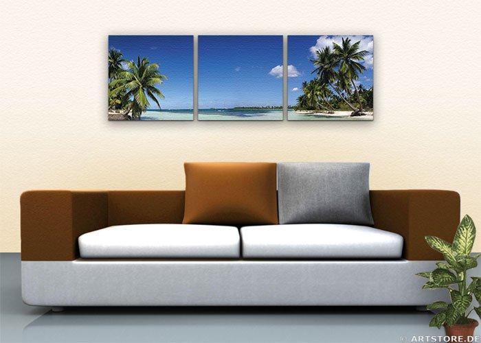 Wandbild Jack Dyrell DREAM BEACH Wohnbeispiel