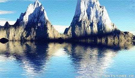 Wandbild Jack Dyrell BLUE REFLECTIONS Detailausschnitt