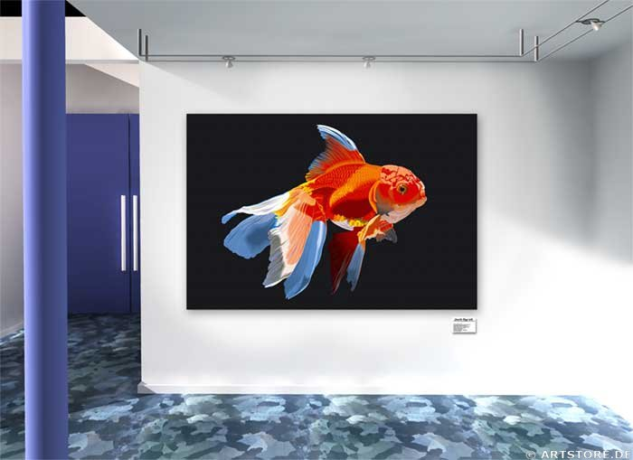 Wandbild Jack Dyrell BEAUTY FISH Wohnbeispiel