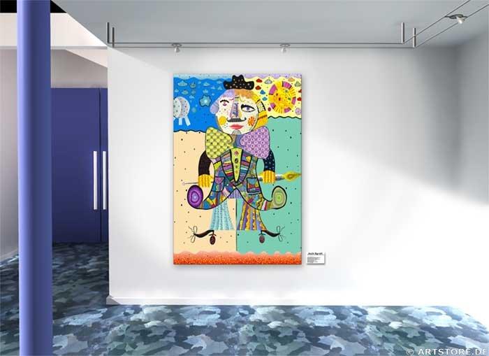 Wandbild Jack Dyrell LIKE PICASSO Wohnbeispiel