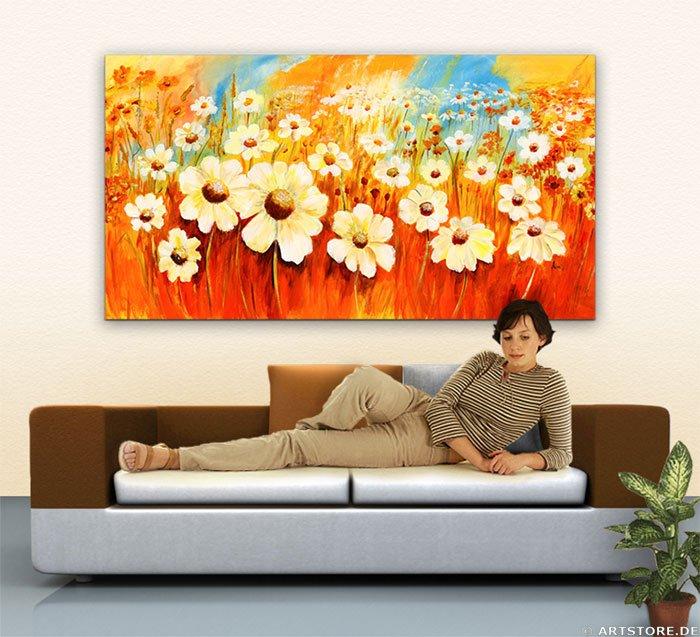 Wandbild Mia Morro SPRING FLOWERS Wohnbeispiel