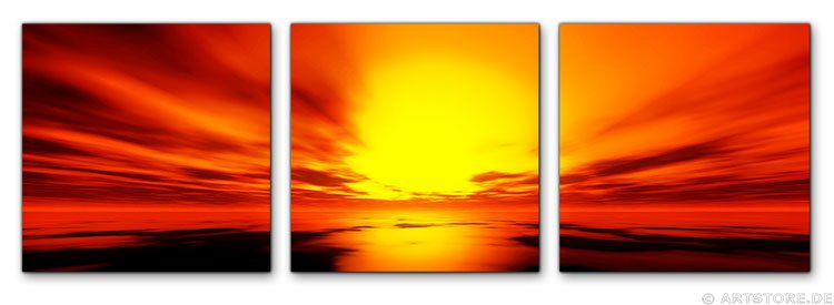 Wandbild Jack Dyrell ORANGE SUNSET