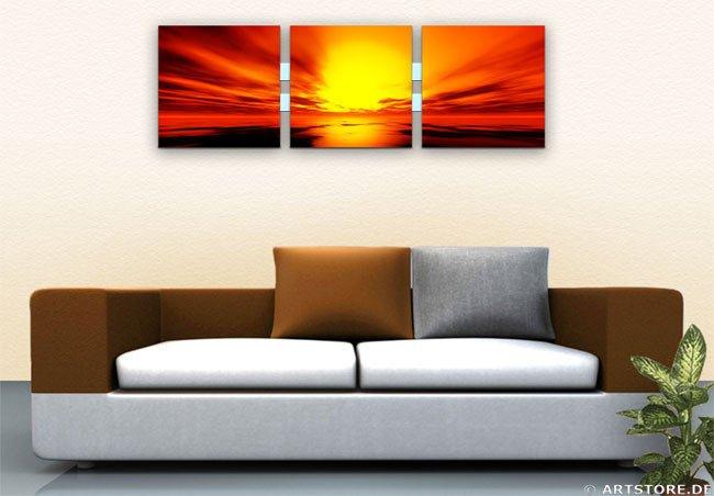 Wandbild Jack Dyrell ORANGE SUNSET Wohnbeispiel