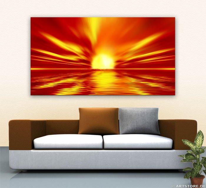 Wandbild Jack Dyrell WONDERFUL SUN Wohnbeispiel