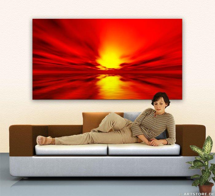 Wandbild Jack Dyrell DEEP SUN Wohnbeispiel
